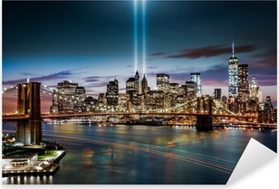 Tribute in Light memorial on September 11, 2014 Pixerstick Sticker