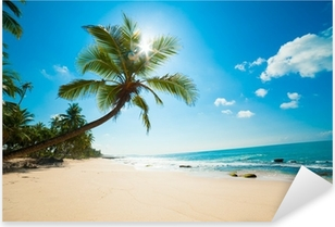 Tropical beach in the sun Pixerstick Sticker