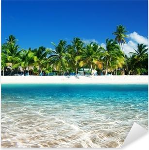 tropical beach Pixerstick Sticker