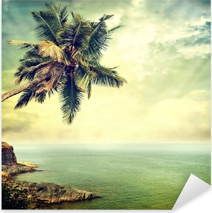 Tropical island Pixerstick Sticker