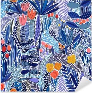Sticker Pixerstick Tropical seamless floral pattern