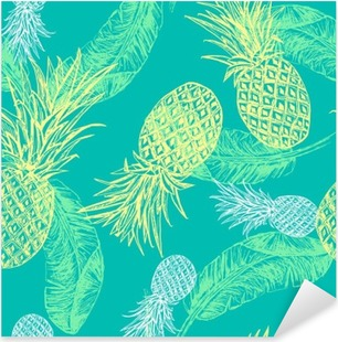 Tropical seamless pattern Pixerstick Sticker