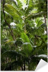 Tropischer Regenwald Pixerstick Sticker
