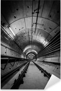 Sticker Pixerstick Tunnel de métro profonde
