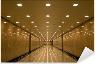 tunnel of lights Pixerstick Sticker