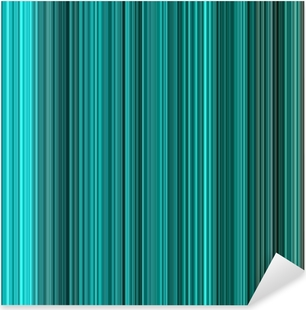 Pixerstick Sticker Turquoise kleuren abstracte verticale lijnen achtergrond.