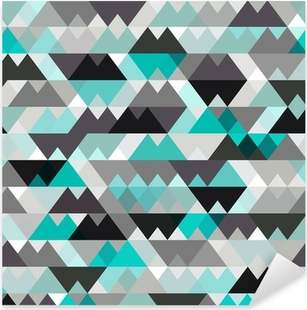 turquoise shiny vector background Pixerstick Sticker