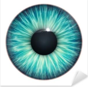 Sticker Pixerstick Turquoise texture des yeux