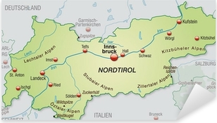 Landkarte Von Polen Mit Nachbarlandern Sticker Pixers We Live