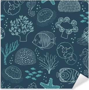 Underwater life pattern Pixerstick Sticker