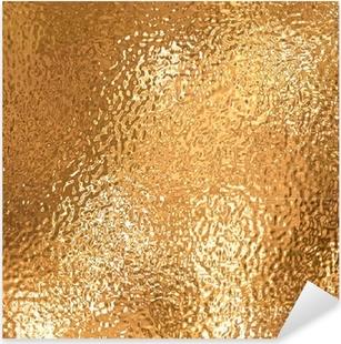 Sticker Pixerstick Une très grande feuille de beau papier d'aluminium froissé or