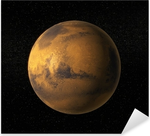 Sticker Pixerstick Une vue de la planète Mars