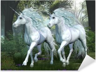 Unicorn Elm Forest Pixerstick Sticker