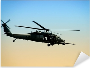 US Army helicopter in early morning Pixerstick Sticker