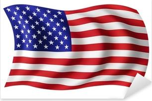 USA flag United States - American flag Pixerstick Sticker