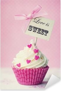 Valentine cupcake Pixerstick Sticker