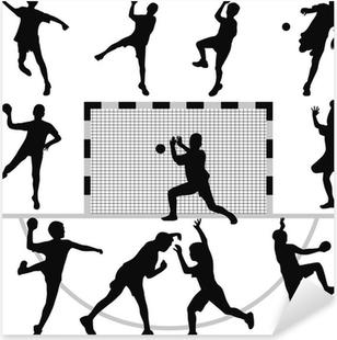 Sticker Pixerstick Vecteur de silhouette de handball