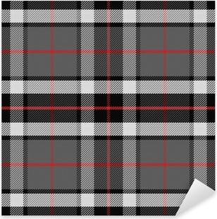 Sticker Pixerstick Vecteur, seamless tartan écossais