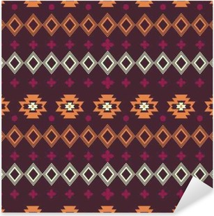 Vector abstract geometric elements for frame, border elements, pattern, ethnic collection, tribal aztec art print, repeatable background. Ethnic boho ornament. Fabric design, wallpaper, wrapping. Pixerstick Sticker