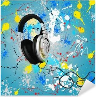 vector abstract headphones composition Pixerstick Sticker