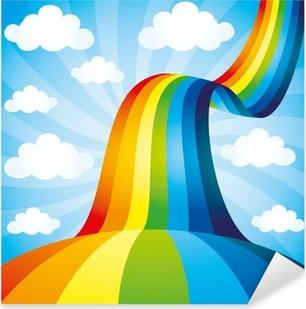 Vector background. Rainbow. Pixerstick Sticker