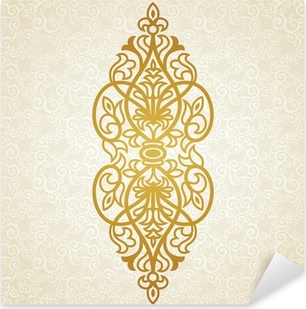Vector baroque ornament in Victorian style. Pixerstick Sticker