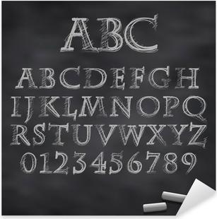 Vector chalk font Pixerstick Sticker
