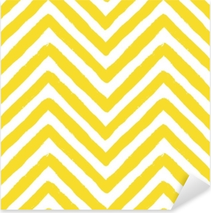 Vector Chevron Yellow Seamless Pattern Pixerstick Sticker