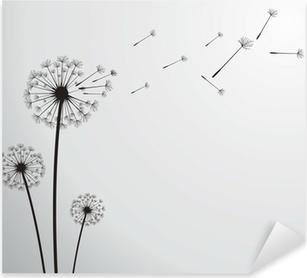 vector dandelion Pixerstick Sticker