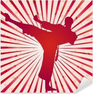 Pixerstick Sticker Vector deksel karate