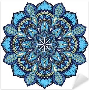 Vector, elegant mandala, with intricate detail. Pixerstick Sticker