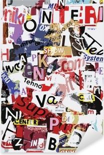 Vector grunge text Pixerstick Sticker