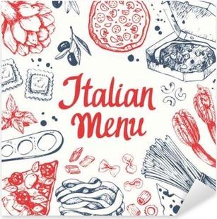 Pixerstick Sticker Vector illustratie met pasta machine, ravioli en groenten.