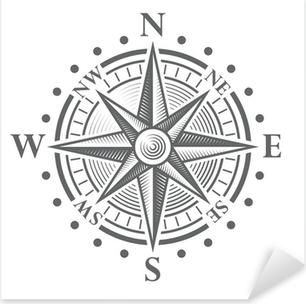 Pixerstick Sticker Vector kompasroos