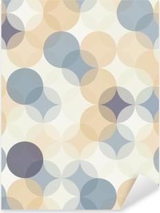 Sticker Pixerstick Vector modernes colorés cercles de motif géométrique sans soudure, la couleur de fond géométrique abstrait, papier peint impression, rétro texture, design de mode hipster, __