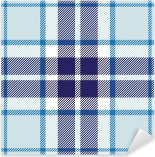Pixerstick Sticker Vector naadloze tartan plaid patroon