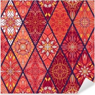 Pixerstick Sticker Vector naadloze textuur. prachtig mega patchworkpatroon voor design en mode met decoratieve elementen