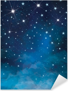 Vector night starry sky background. Pixerstick Sticker