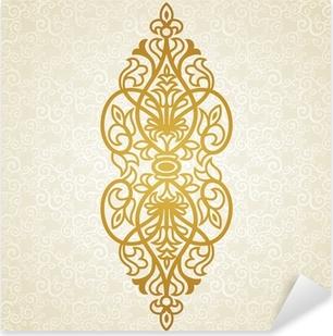 Sticker Pixerstick Vector ornement baroque dans le style victorien.