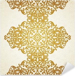 Vector seamless border in Victorian style. Element for design. Pixerstick Sticker