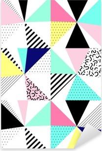 Sticker Pixerstick Vector seamless motif géométrique. Style de Memphis. Résumé des années 80.