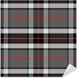 vector seamless pattern Scottish tartan Pixerstick Sticker