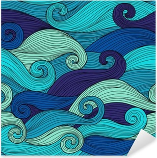 Vector seamless pattern with abstract waves Pixerstick Sticker