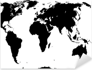 Black world map vector illustration sticker pixers we live to vector world map isolated on white background pixerstick sticker gumiabroncs Choice Image