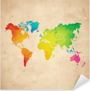 Old world map sticker pixers we live to change vector world map pixerstick sticker gumiabroncs Choice Image