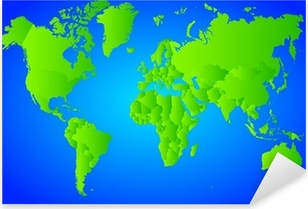 Green world map sticker pixers we live to change vector world map pixerstick sticker gumiabroncs Choice Image