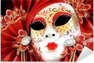 Venetian Carnival Mask Pixerstick Sticker