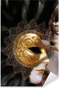 Venetian mask Pixerstick Sticker