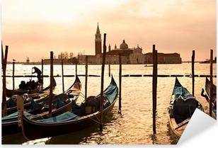 Venice, View of San Giorgio maggiore from San Marco. Pixerstick Sticker