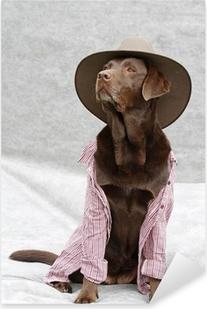 verkleideter Labrador Pixerstick Sticker
